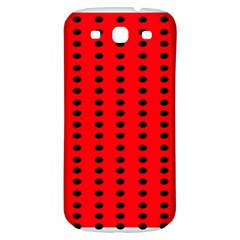 Red White Black Hole Polka Circle Samsung Galaxy S3 S Iii Classic Hardshell Back Case by Mariart