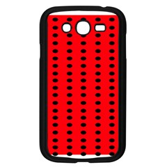 Red White Black Hole Polka Circle Samsung Galaxy Grand Duos I9082 Case (black) by Mariart