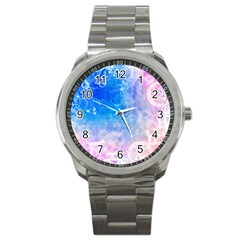 Horoscope Compatibility Love Romance Star Signs Zodiac Sport Metal Watch by Mariart