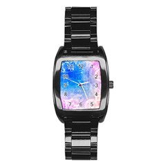 Horoscope Compatibility Love Romance Star Signs Zodiac Stainless Steel Barrel Watch