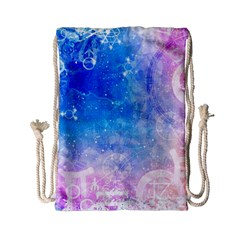 Horoscope Compatibility Love Romance Star Signs Zodiac Drawstring Bag (small) by Mariart