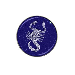 Scorpio Zodiac Star Hat Clip Ball Marker by Mariart