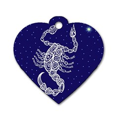 Scorpio Zodiac Star Dog Tag Heart (one Side) by Mariart