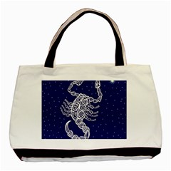 Scorpio Zodiac Star Basic Tote Bag (two Sides) by Mariart