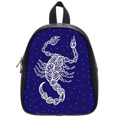 Scorpio Zodiac Star School Bags (small)  by Mariart