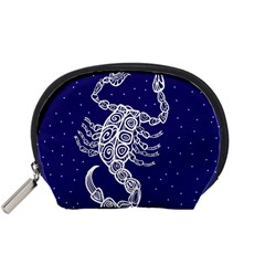 Scorpio Zodiac Star Accessory Pouches (small)  by Mariart