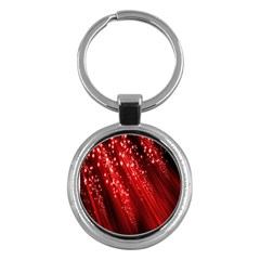 Red Space Line Light Black Polka Key Chains (round)  by Mariart