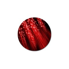 Red Space Line Light Black Polka Golf Ball Marker (4 Pack) by Mariart