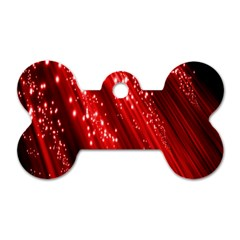 Red Space Line Light Black Polka Dog Tag Bone (one Side) by Mariart