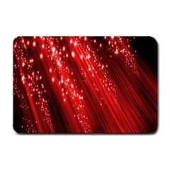 Red Space Line Light Black Polka Small Doormat  by Mariart