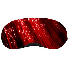 Red Space Line Light Black Polka Sleeping Masks by Mariart