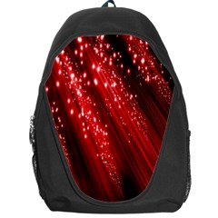 Red Space Line Light Black Polka Backpack Bag by Mariart