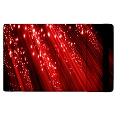 Red Space Line Light Black Polka Apple Ipad 2 Flip Case by Mariart