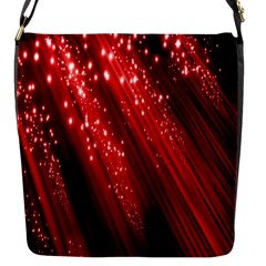 Red Space Line Light Black Polka Flap Messenger Bag (s) by Mariart
