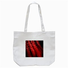 Red Space Line Light Black Polka Tote Bag (white) by Mariart