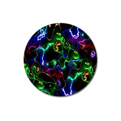 Saga Colors Rainbow Stone Blue Green Red Purple Space Magnet 3  (round) by Mariart