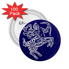 Sagitarius Zodiac Star 2 25  Buttons (100 Pack)