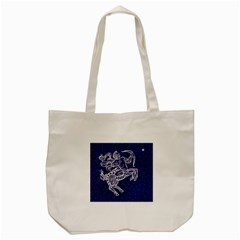 Sagitarius Zodiac Star Tote Bag (cream) by Mariart