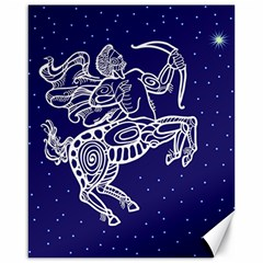 Sagitarius Zodiac Star Canvas 16  X 20   by Mariart