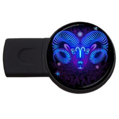 Sign Aries Zodiac Usb Flash Drive Round (2 Gb) by Mariart