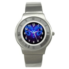 Sign Aries Zodiac Stainless Steel Watch by Mariart