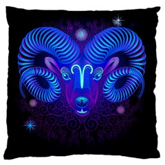 Sign Aries Zodiac Standard Flano Cushion Case (two Sides) by Mariart