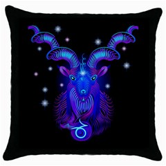 Sign Capricorn Zodiac Throw Pillow Case (black) by Mariart