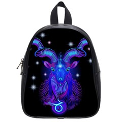 Sign Capricorn Zodiac School Bags (small)  by Mariart
