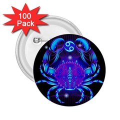 Sign Cancer Zodiac 2 25  Buttons (100 Pack)