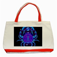 Sign Cancer Zodiac Classic Tote Bag (red)