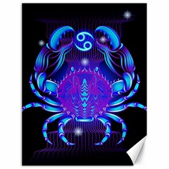 Sign Cancer Zodiac Canvas 18  X 24   by Mariart