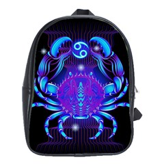 Sign Cancer Zodiac School Bags(large)  by Mariart