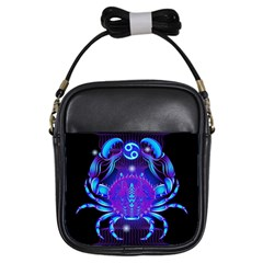 Sign Cancer Zodiac Girls Sling Bags
