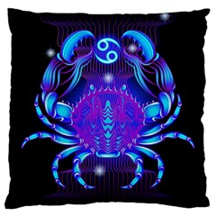 Sign Cancer Zodiac Large Cushion Case (one Side) by Mariart