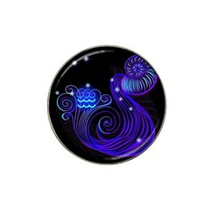 Sign Aquarius Zodiac Hat Clip Ball Marker (4 Pack) by Mariart