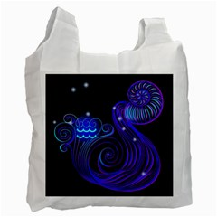 Sign Aquarius Zodiac Recycle Bag (two Side)  by Mariart