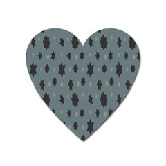 Star Space Black Grey Blue Sky Heart Magnet by Mariart