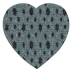 Star Space Black Grey Blue Sky Jigsaw Puzzle (heart) by Mariart