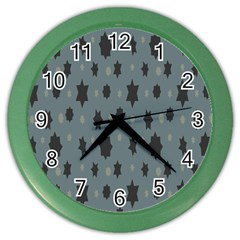 Star Space Black Grey Blue Sky Color Wall Clocks by Mariart