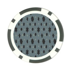 Star Space Black Grey Blue Sky Poker Chip Card Guard (10 Pack)