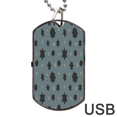 Star Space Black Grey Blue Sky Dog Tag Usb Flash (two Sides) by Mariart