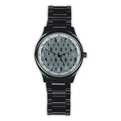 Star Space Black Grey Blue Sky Stainless Steel Round Watch by Mariart