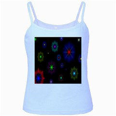 Star Space Galaxy Rainboiw Circle Wave Chevron Baby Blue Spaghetti Tank