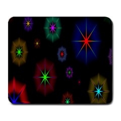 Star Space Galaxy Rainboiw Circle Wave Chevron Large Mousepads by Mariart