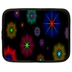 Star Space Galaxy Rainboiw Circle Wave Chevron Netbook Case (large) by Mariart