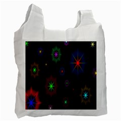 Star Space Galaxy Rainboiw Circle Wave Chevron Recycle Bag (one Side) by Mariart
