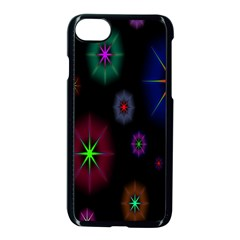 Star Space Galaxy Rainboiw Circle Wave Chevron Apple Iphone 7 Seamless Case (black) by Mariart