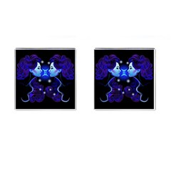 Sign Gemini Zodiac Cufflinks (square) by Mariart
