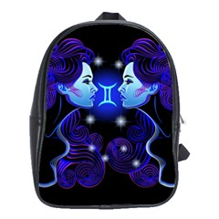 Sign Gemini Zodiac School Bags (xl)  by Mariart