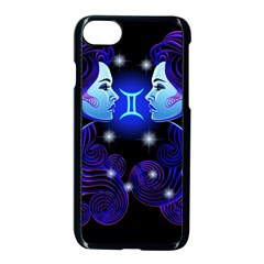 Sign Gemini Zodiac Apple Iphone 7 Seamless Case (black) by Mariart